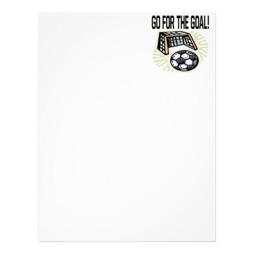 Go For The Goal Letterhead