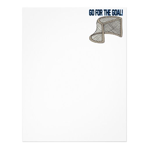 Go For The Goal Letterhead Design