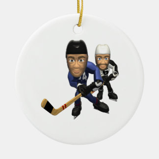 Go For The Goal Double-Sided Ceramic Round Christmas Ornament
