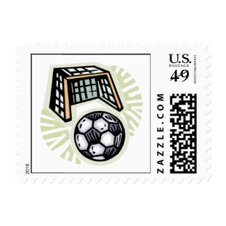 Go For The Goal Postage Stamp