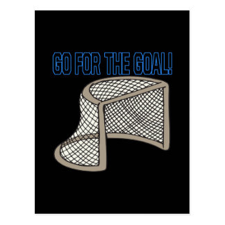 Go For The Goal Post Card