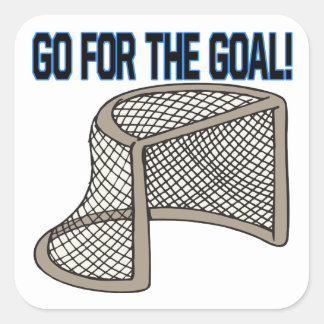 Go For The Goal Square Sticker