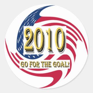 Go For The Goal - USA Round Sticker