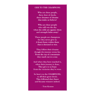 GO FOR YOUR DREAMS PERSONALIZED RACK CARD