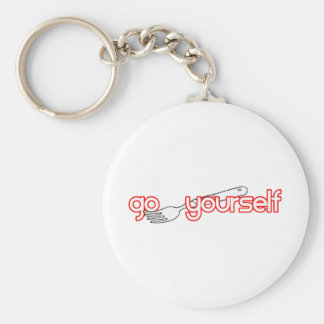 Go Fork Yourself Basic Round Button Keychain