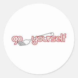 Go Fork Yourself Classic Round Sticker