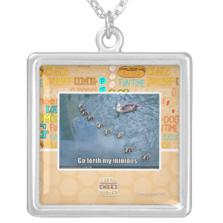 Go forth my minions silver plated necklace