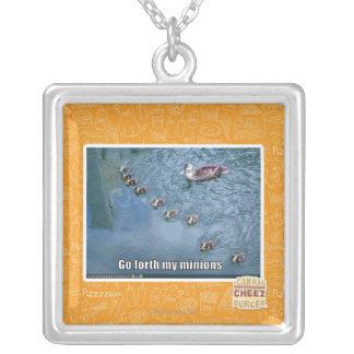 Go forth my minions square pendant necklace