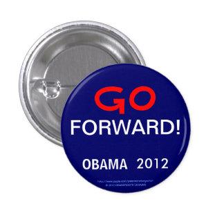 GO FORWARD!  Obama 2012 Pinback Button