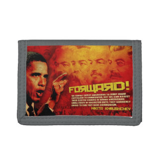 Go Forward the Obama-nation way Tri-fold Wallet