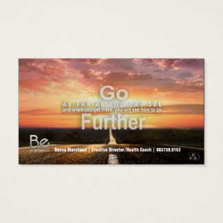 Go Further - 21 Day Perspective Challenge Business Card
