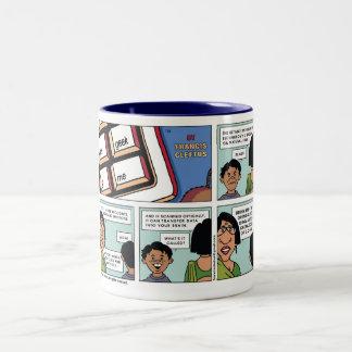 Go get a Book! Two-Tone Coffee Mug