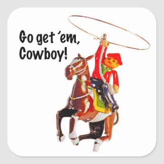 Go get 'em, Cowboy! Stickers