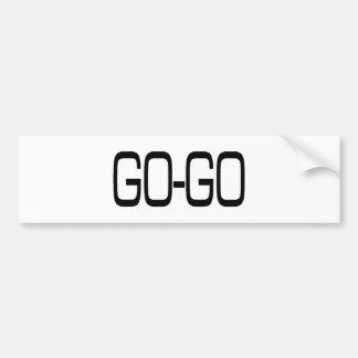 GO-GO CAR BUMPER STICKER