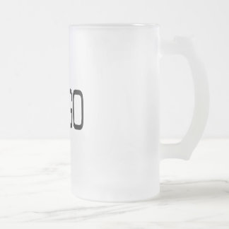 GO-GO FROSTED GLASS BEER MUG