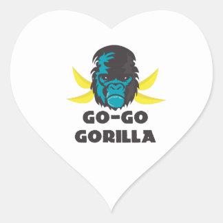 Go-Go Gorilla Heart Sticker
