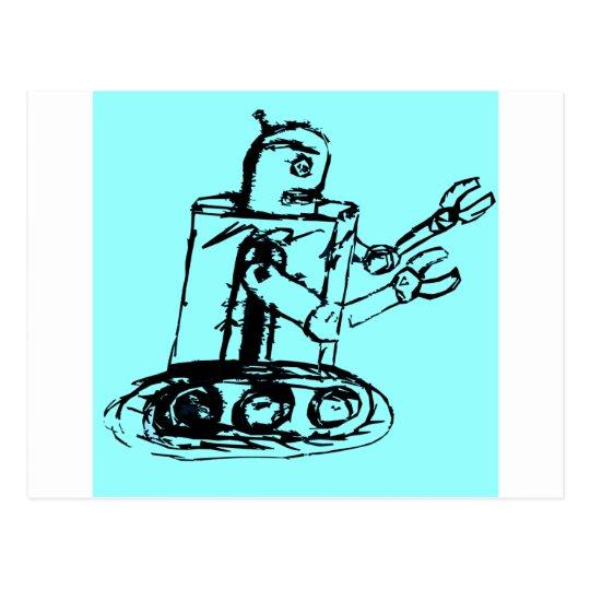 go Go Robot Postcard