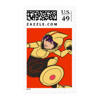 Go Go Tomago Yellow Suit Postage Stamps