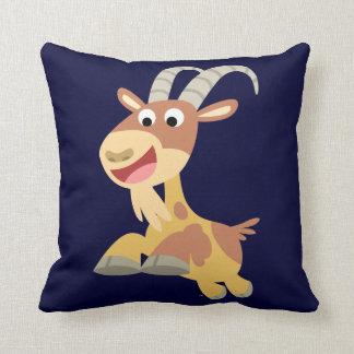 Go Goat!! (cute cartoon goat) Pillow