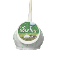 Go golfing with golf ball on green cake pops