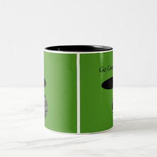 Go Green 11 oz Two-Tone Coffee Mug