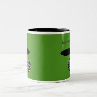 Go Green 15 oz Two-Tone Coffee Mug