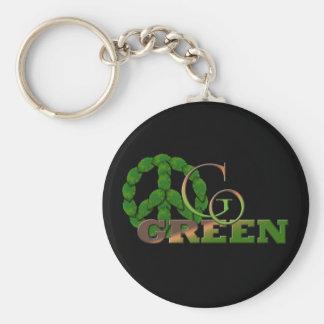 Go Green 2 Keychain