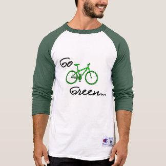 Go Green - 3/4 Sleeve Bicycle Shirt