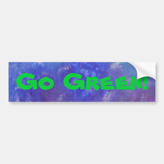 Go Green Abstract Painting Sticker