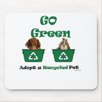 go green adopt a recycled pet mouse pad