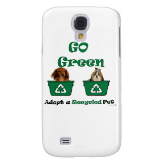 go green adopt a recycled pet samsung galaxy s4 cover