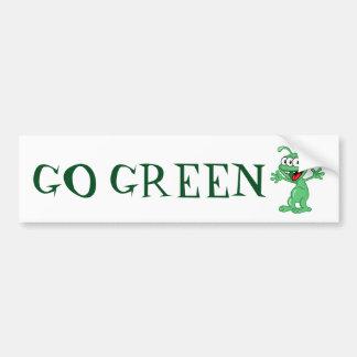 Go Green - Alien monster Bumper Sticker