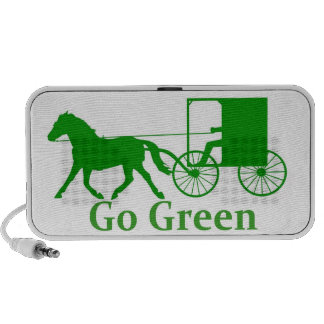 Go green, amish buggy and horse mini speaker