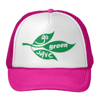 go green and save trucker hat