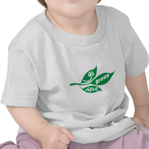 go green and save tshirt