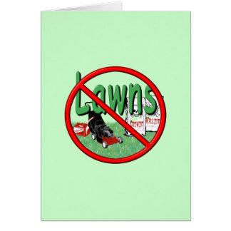 Go Green Anti-Lawn Card