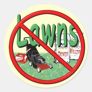 Go Green Anti-Lawn Classic Round Sticker