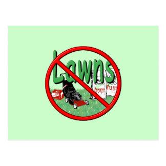 Go Green Anti-Lawn Postcard