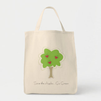 Go Green. Apple Grocery Bag