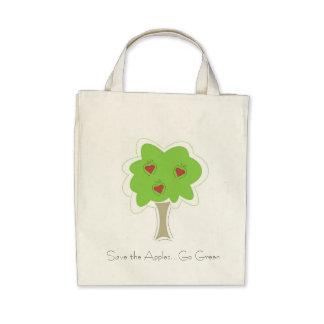 Go Green Apple Grocery Bag