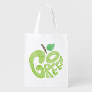 Go Green Apple Grocery Bags