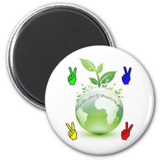Go Green Application 2 Inch Round Magnet