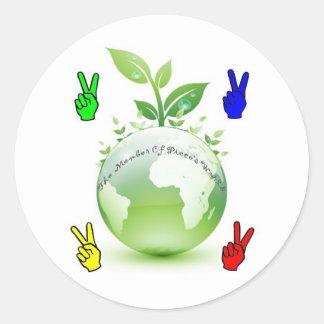 Go Green Application Classic Round Sticker