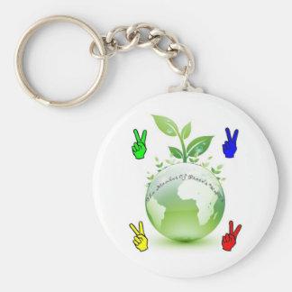 Go Green Application Keychain
