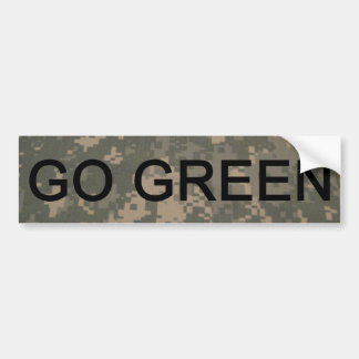 Go Green Army Style Bumper Sticker Car Bumper Sticker