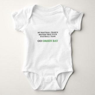 Go Green Bay Baby Bodysuit