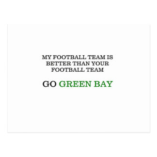 Go Green Bay Postcard