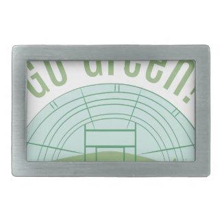 Go Green! Rectangular Belt Buckle