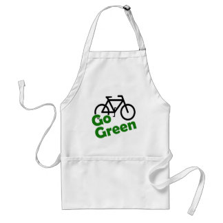 go green bicycle adult apron