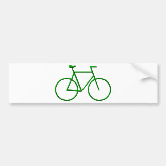 Go Green Bicycle Bumper Stickers